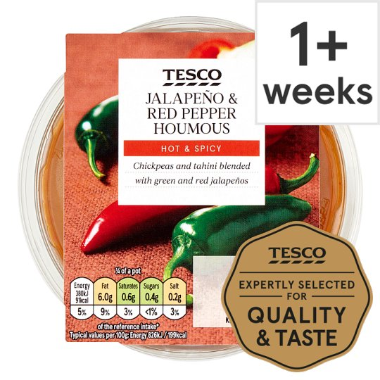Image result for tesco hummus jalapeno