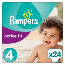Pampers Active Fit Size 4 Carry Pack 24 Nappies