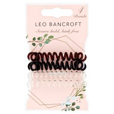 Leo Bancroft Spiral Hairbands Assorted