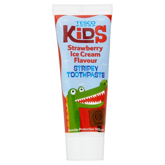 Tesco Kids Strawberry Toothpaste 75Ml
