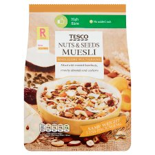 Tesco Nuts And Seeds Muesli 750G