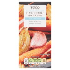 Tesco Reduced Salt Vegetable Stock Cubes 10 Pack 100G