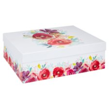 Tesco Scarlet Posy Storage Box