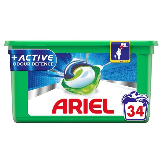 Ariel 3in1 Pods Active Odour Defence 34 Wash Tesco Groceries