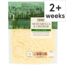 Tesco Grated Mozzarella And Cheddar 200G