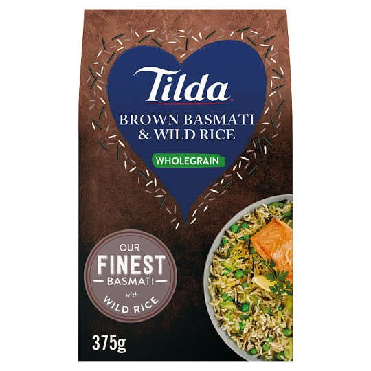 Tilda Wholegrain Basmati And Wild Rice 375G