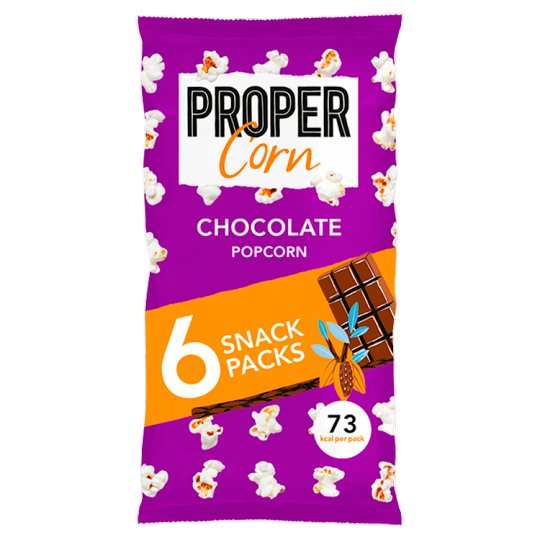 image 1 of Propercorn Chocolate Popcorn 6X15g