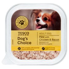Tesco Dog's Choice Chicken Bacon Dog Food Tray 150G