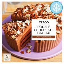 Tesco Double Chocolate Gateau 350G
