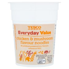 Tesco Everyday Value Chicken And Mushroom Flavoured Noodles70g