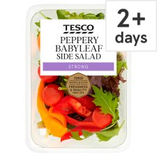 Tesco Peppery Babyleaf Salad Bowl 95G