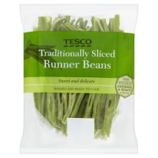 Tesco Traditional Sliced Runner Beans 185G