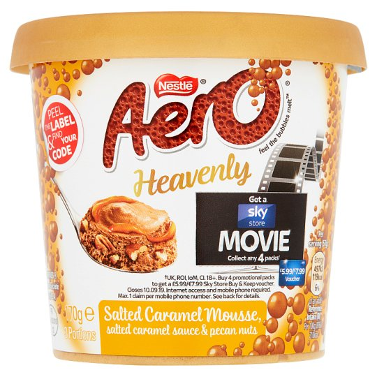 Aero Heavenly Salted Caramel Mousse 170G