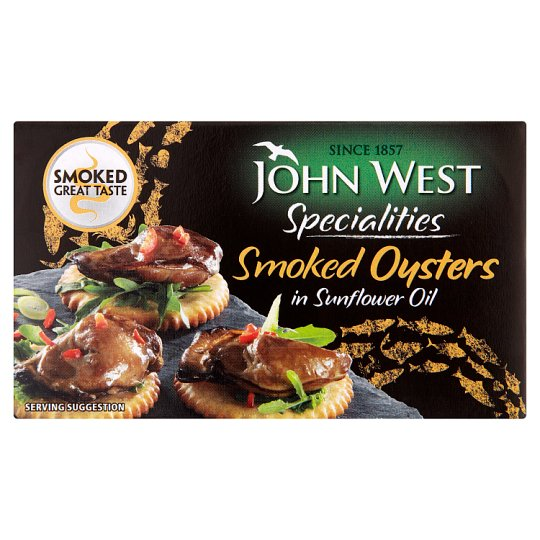 John West Smoked Oysters Sunflower Oil 85G