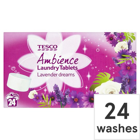 Tesco 2 In 1 Lavender Tablets 24 Washes 48Pk