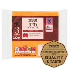 Tesco Red Leicester Cheese 220G