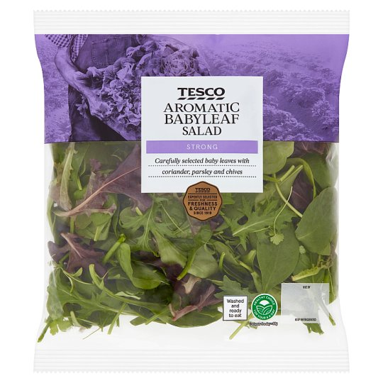 Tesco Aromatic Babyleaf Herb Salad 105G