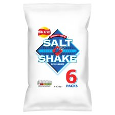 Walkers Salt And Shake Crisps 6 X 24 G