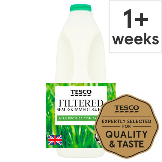Tesco Pure Filter Semi Skimmed Milk 2 Litre