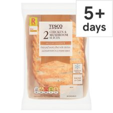 Tesco 2 Chicken And Mushroom Slices 300G