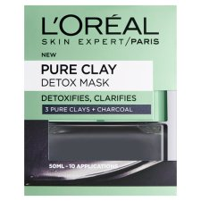 L'oreal Pure Clay Detox Mask Black 50Ml