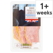 Tesco British Wafer Thin Crumbed Ham Slices 125G