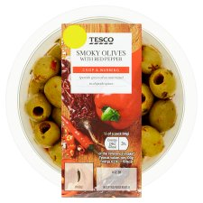 Tesco Roasted Pepper Smoky Chipolte Olives 220G