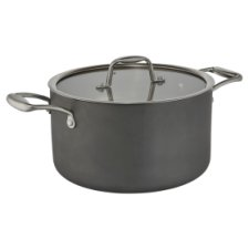 Go Cook 2Ply Hard Anodised Stock Pot 24Cm