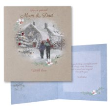 Tesco Christmas Card Special Mum And Dad With Love
