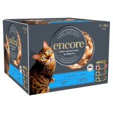 Encore Cat Food Fish Selection Tins 12X70g