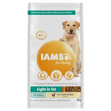 Iams Dog Food Adult Light In Fat With Chicken 2Kg