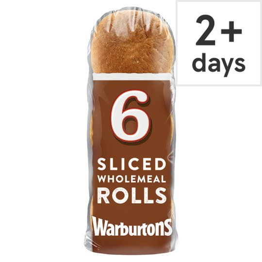 Warburtons Wholemeal Rolls 6 Pack