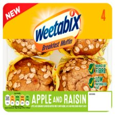Weetabix Apple And Raisin Breakfast Muffin 4 Pack