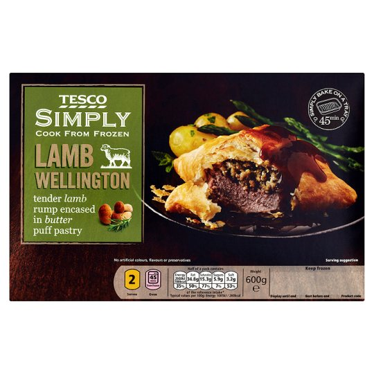 Tesco Simply Lamb Wellington 600G