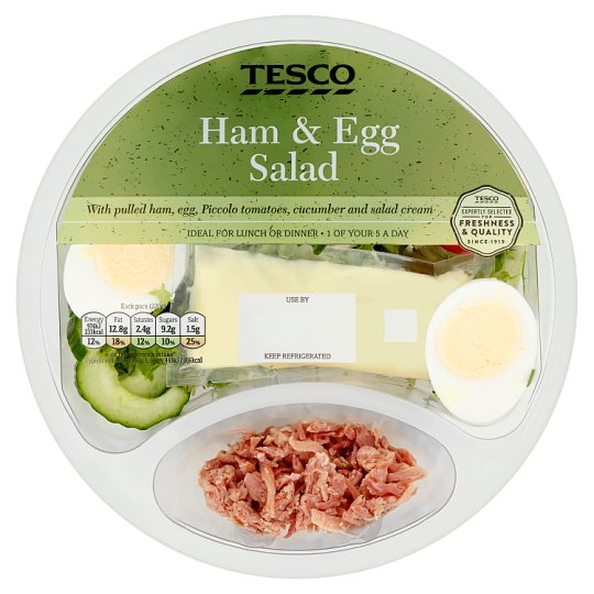 Tesco Ham And Egg Salad Bowl 220G