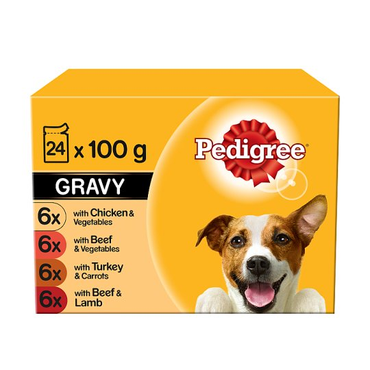 image 1 of Pedigree Mixed Variety Gravy Dog Food Pouches 24 X100g