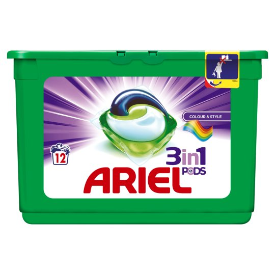 Ariel Colour 3In1 Pods Washing Capsules 12 Washes