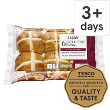 Tesco 6 Hot Cross Buns