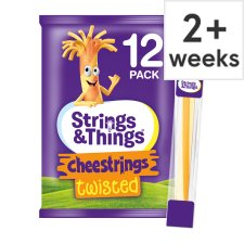 Cheestrings Twisted Cheese Snacks 12 Pk, 240G