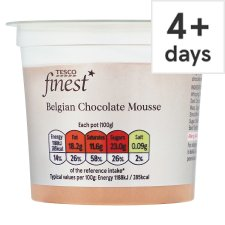 Tesco Finest Belgian Chocolate Mousse 100G
