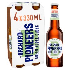 Orchard Pioneer Green Apple Cider 4X330ml Bottle