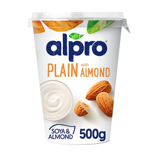 Alpro Big Pot Plain With Almond Yogurt Alternative 500G