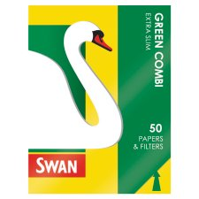Swan Green Combination Extra Slim Paper And Filters 50 Pack