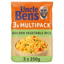 Uncle Bens Rice Golden Vegetable Multipack 3X250g