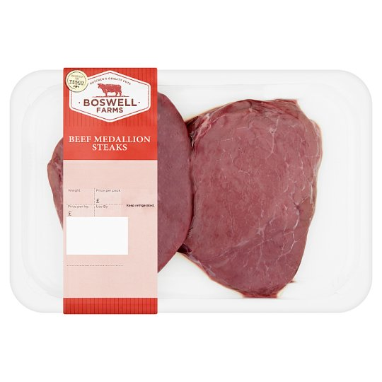 Boswell Farms Beef Medallion Steaks 340G