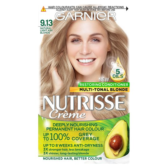 Garnier Nutrisse Creme 9 13 Light Ash Blonde Groceries