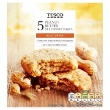 Tesco Peanut Butter Filled Soft Bakes 5 X 50G