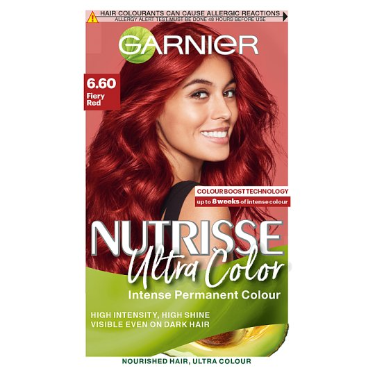 image 1 of Garnier Nutrisse 6.60 Ultra Fiery Red Permanent Hair Dye