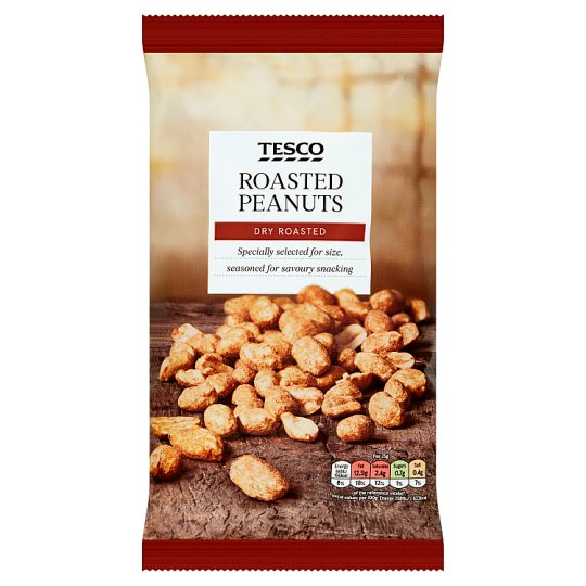 Tesco Dry Roasted Peanuts 550G