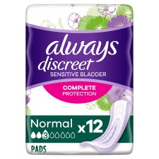 Always Discreet Normal Incontinence Pads 12 Pack